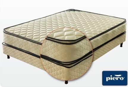 Colchon + Sommier Piero Bahía Pillow Top 140 x 190 x 27